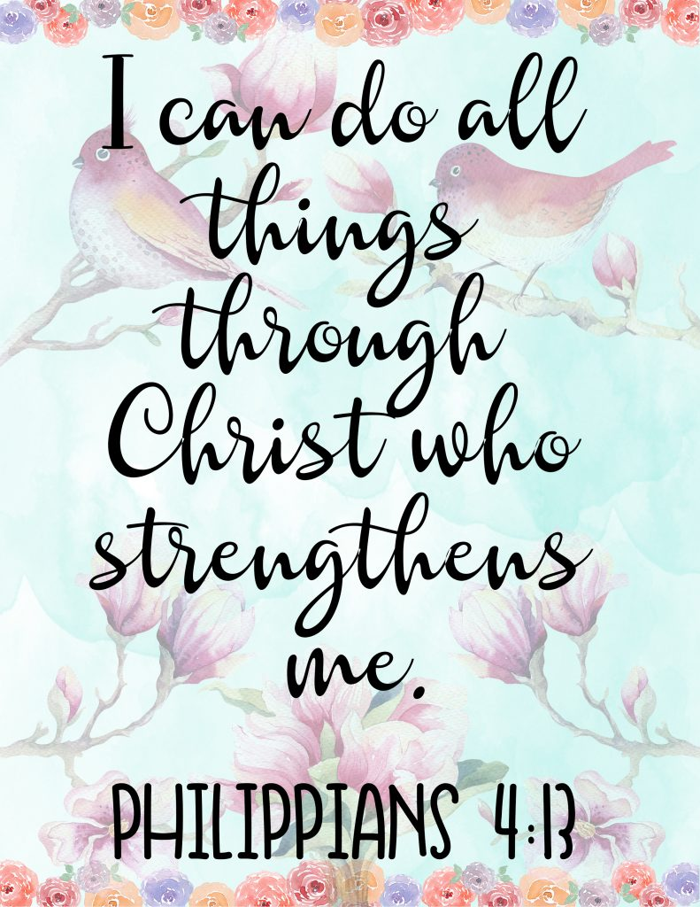 Faith Branded Free Printable - Philippians 4:13