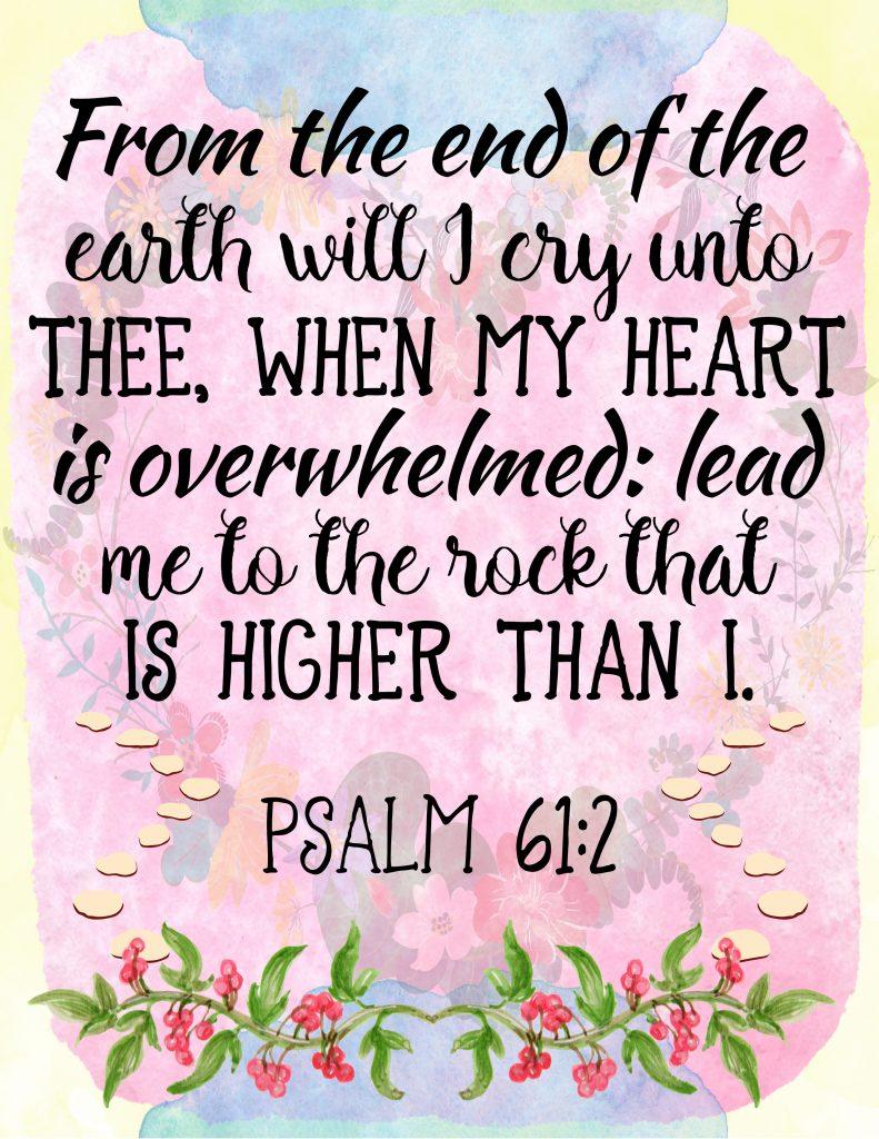 Free Printable - Psalm 61:2